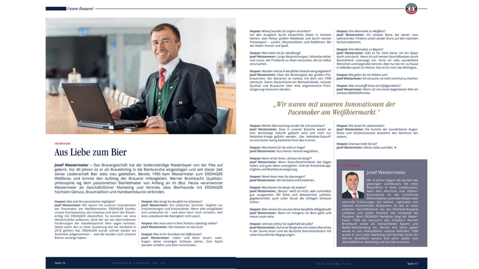 kiecom_ERDINGER Fanpost_Interview Josef Westermeier