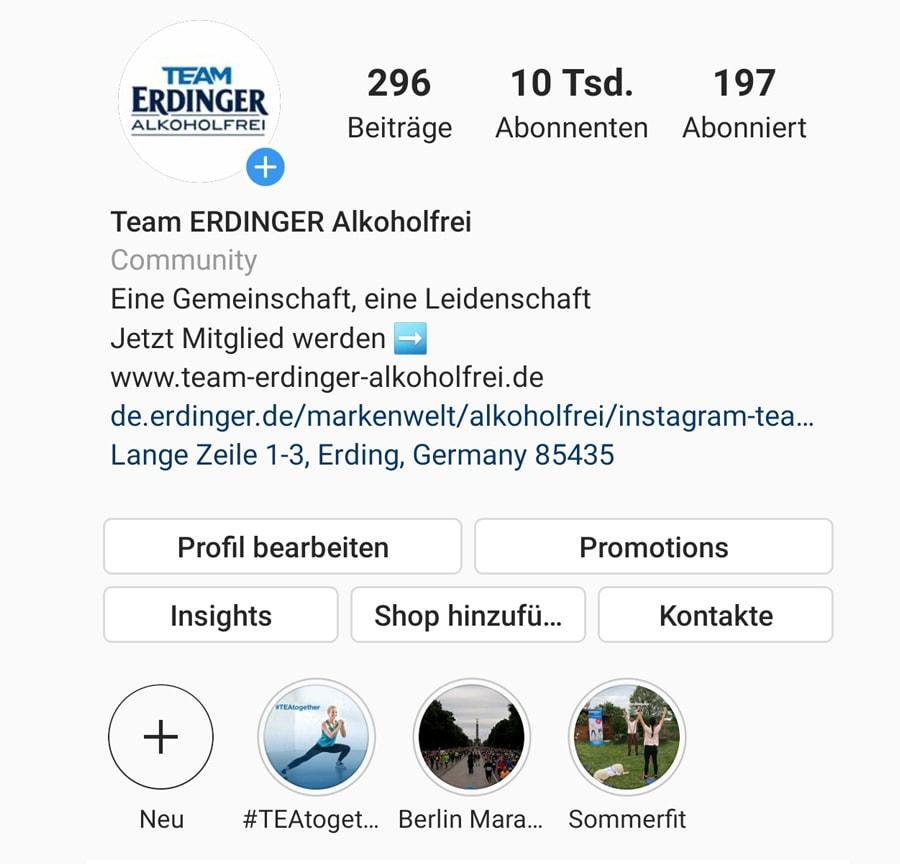 kiecom_Instagram Team ERDINGER Alkoholfrei _Kachel