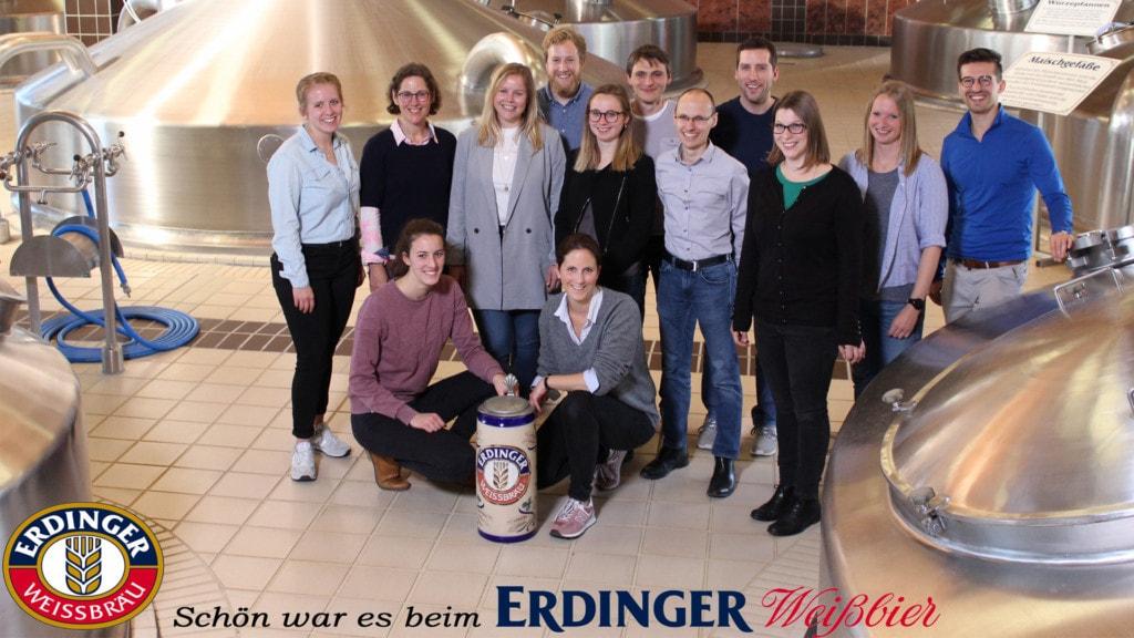Das kiecom Team bei der Privatbrauerei ERDINGER Weißbräu.